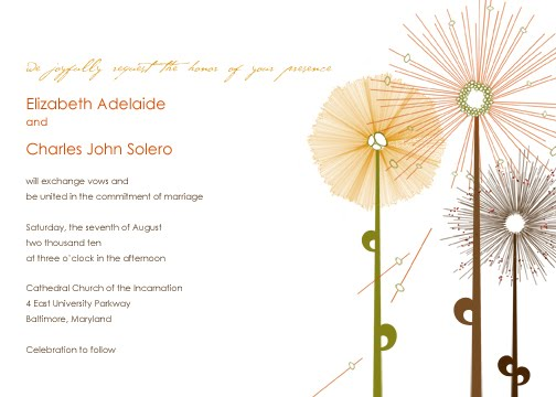 Fall Flowers Wedding Invitation