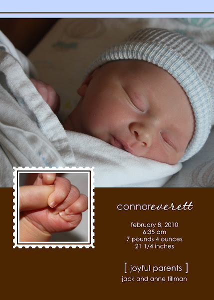 Connor Everett Baby Announcement