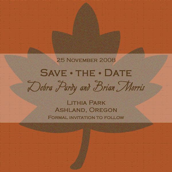 Burnt Maple Save the Date