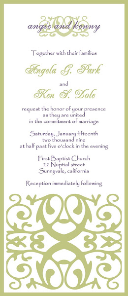Iron Gate Wedding Invitation