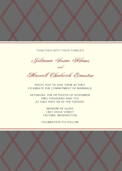 Platinum Wedding Invitation