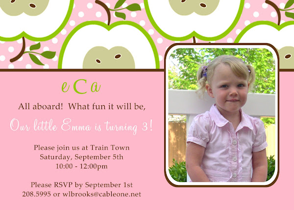 Candy Apple Birthday Invitation