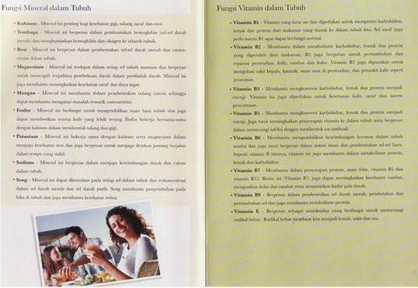 FUNGSI MINERAL & VITAMIN DALAM TUBUH