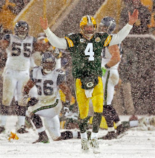 Brett Favre enjoyed the snow