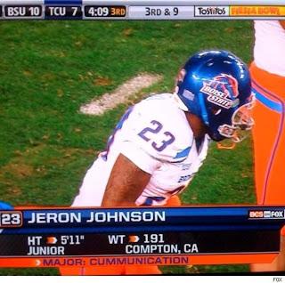 Jeron Johnson cummunications major