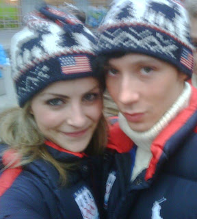 Tanith Belbin and Johnny Weir
