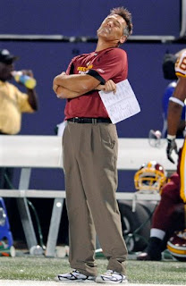 Jim Zorn's first game as Redskins coach did not go well