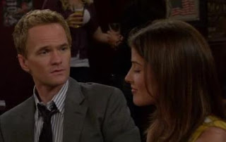 Barney makes a sad face when Robin says she's leaving
