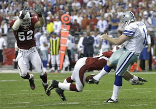 The Cardinals shock the Cowboys with a blocked punt in overtime