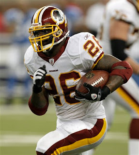 Clinton Portis leads the NFL in rushing by 260 yards