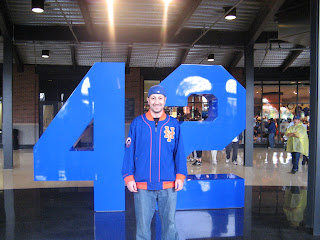 the huge 42 in the Jackie Robinson Rotunda
