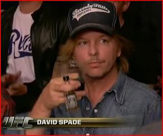 David Spade drinking Jack and Coke at UFC 104