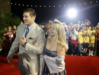 Tim Tebow and his date Kelly Faughnan