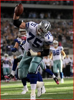 Mark Columbo's spike was part of the celebration that cost the Cowboys 15 yards