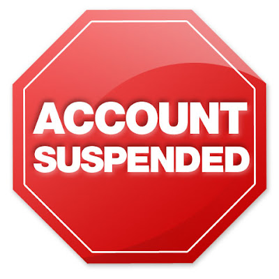 Your account is suspended