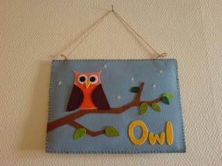 DIY Craft Felt Owl Filz Eule selbstgemacht