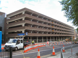 The old multi-story car park on Newgate Street