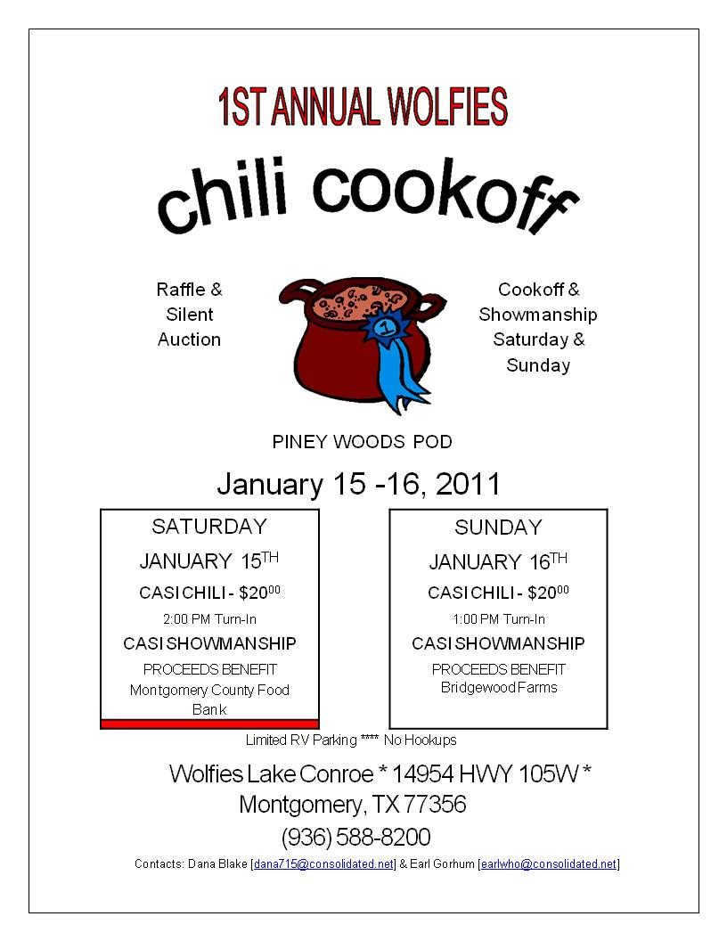 EDs Reflections - Chili cook off flyer template free
