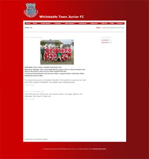 Whitstable Town Junior FC web site