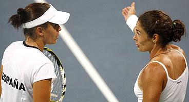 Virginia Ruano y Anabel Medina en los juegos de Pekín