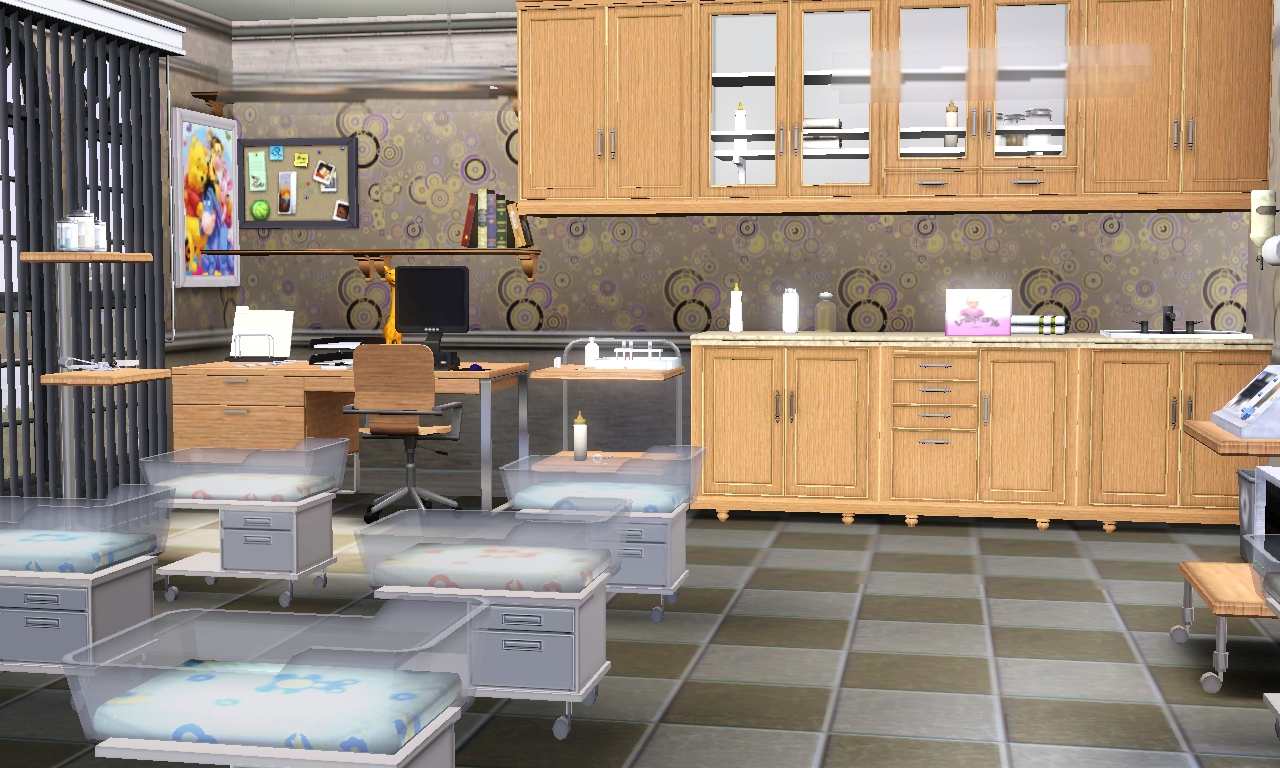 Jamee 39 s sims 3 hospital for story telling for Baby hospital room decoration
