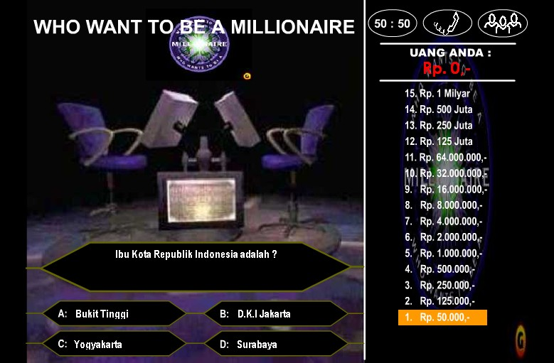 Game Who wants to be a Millionaire Versi Indonesia
