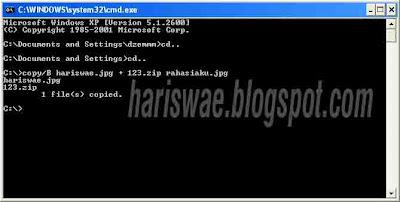 Hidden File Dalam Gambar Tanpa Software