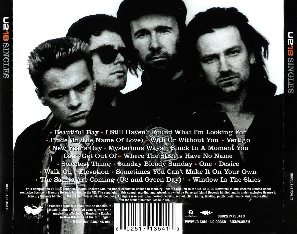 CARATULAS DE CD DE MUSICA: U2 U2 18 Singles (2006)