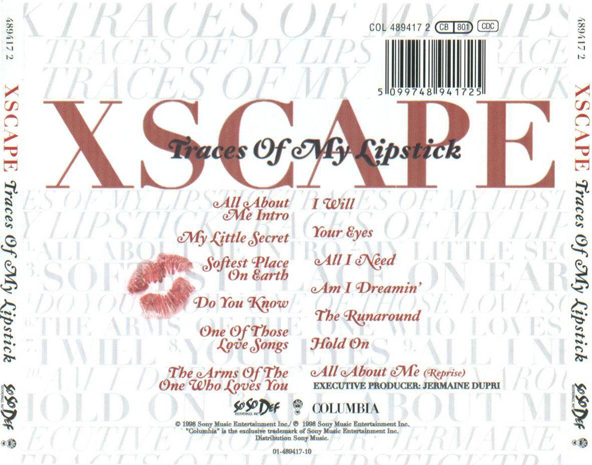 Xscape Traces Of My Lipstick CARATULAS DE CD DE MUS...