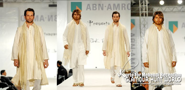 KurtaCollectionForMehendiReception 08 wwwGlamourhuntworldBlogspotcom - Dashing Men's Wear