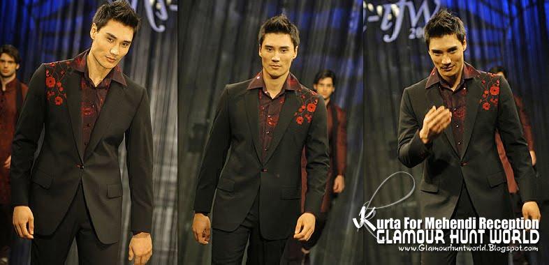 KurtaCollectionForMehendiReception 03 wwwGlamourhuntworldBlogspotcom - Dashing Men's Wear