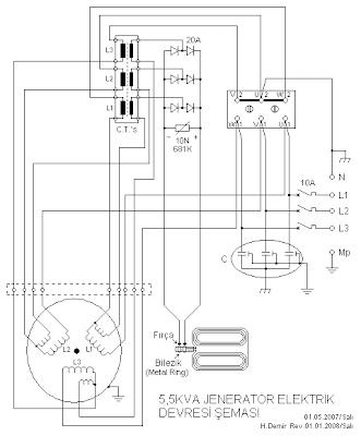 5KVA Generator Electrical Circuit Diagram