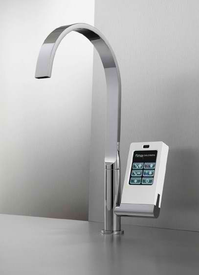 Touch-screen with icons faucet The Latest Technology by Fima