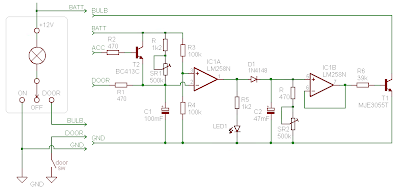Dome light dimmer (with delay) schema