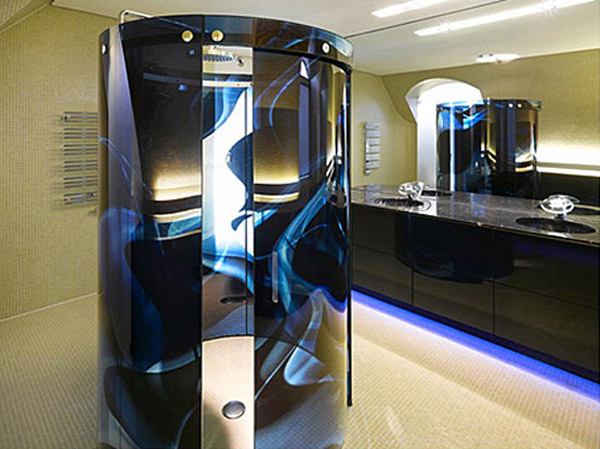 Futuristic interior design gallery from luxury house for Bathroom interior design concepts