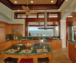 Cool Lagoon Oasis Kitchen by Tiare Cowan