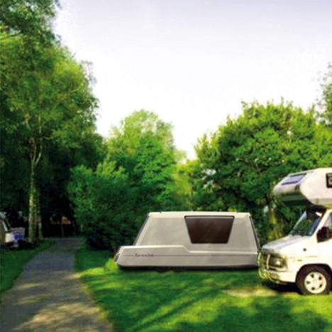 Aquatic Caravan with Floating Travel