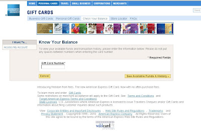 How to check your Amex Gift Card Balance