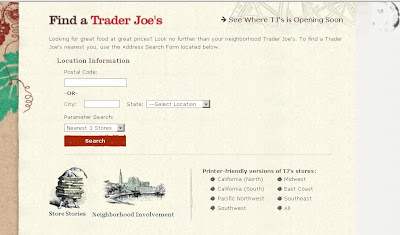 Searching Trader Joe's Grocery Store Locations From Traderjoes.com