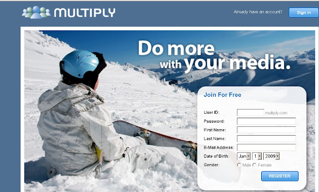 Login to Multiply Website(Multiply.com) for Family Friendly Media Sharing