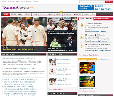 YahooCricket.com offers Live Cricket News, Scores, Results &amp; Highlights, YahooCricket.com, YahooCricket