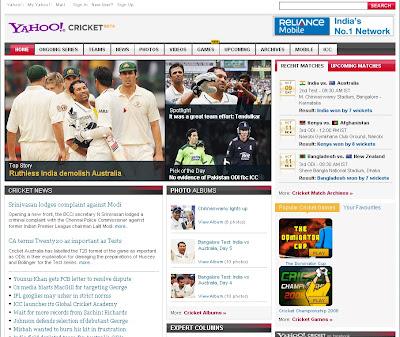 YahooCricket.com offers Live Cricket News, Scores, Results & Highlights, YahooCricket.com, YahooCricket