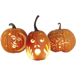 Cool cute easy pumpkin carving ideas for Cool easy ways to carve a pumpkin