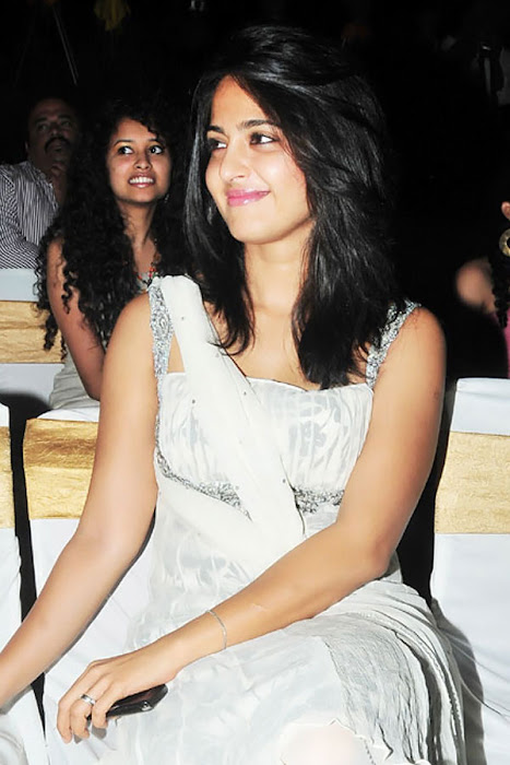 anushka in vedam audio released movies vedam audio premier anushka sharma in white dress looking pretty