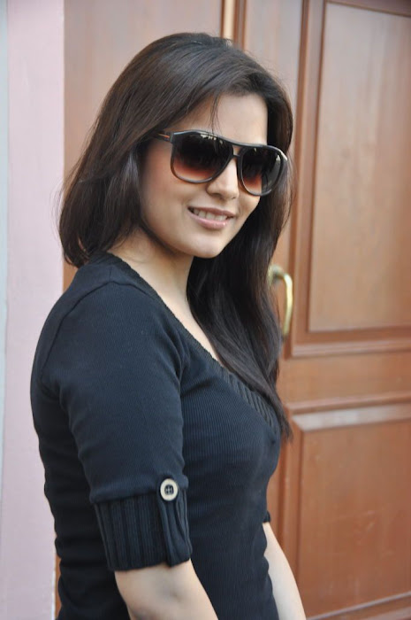 nisha agarwal new in charming black dress hot images