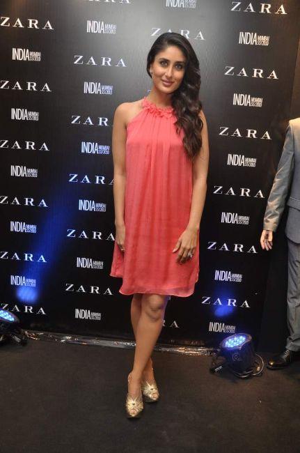 Kareena Kapoor in Skirt at Anniversary of Zara India Fashion Store