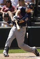 Twins Catcher Joe Mauer up to bat