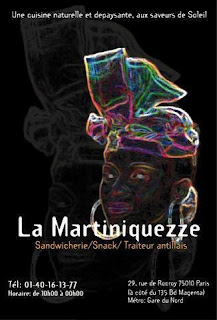 Poster for a club in Paris, La Martiniquezze