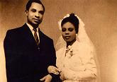 Beautiful picture of Sun-Times reporter Maudlyne Ihejirka's parents when they married in Nigeria in the 1950s