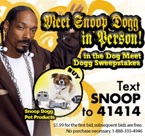 Snoop Dogg Pets is a licensing opportunity the best known, pimped-out 'dogg' lends his name to.  Cute pet apparel that surely garners lots of love and attention for pets wearing this designer line
